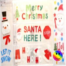 CHRISTMAS GEL WINDOW CLING STICKERS