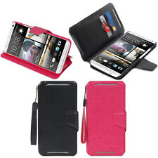 Wallet Folio Leather Folding Stand Cover Case w/ Card Holder for HTC One Max T6