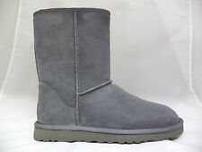 Women's Gray Uggs Classic Short Boots-5825GRY