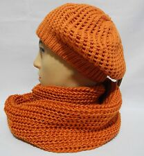 Classic women's soft warm  Wool blend French Artist slouch Beret, infinity scarf