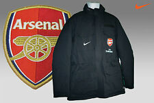 NEW Nike ARSENAL Football Player Issue PARKA  Jacket BENCH COAT Black