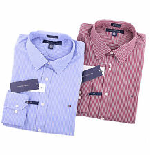 Tommy Hilfiger Men Long Sleeve Button Down Custom Fit Casual Shirt - $0 Ship