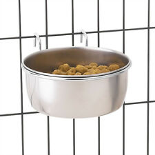 ProSelect Stainless Steel Hanging Dog Bowl for Cage Crate Pet food water bowl