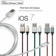 STRONG BRAIDED Lightning Sync Data Cable USB Charger For iPhone 6 5 5C 5S iPad 4