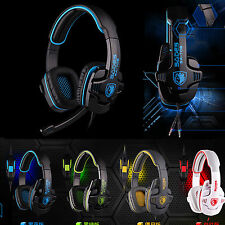 Surround Stereo HiFi Headband Pro Gaming Headset W/ Mic 3.5mm PC Laptop Mobile