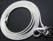 925 Sterling Silver Necklace Chain Snake Type, 2mm 16, 18, 20, 22, 24 inches
