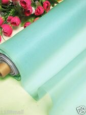 By 0.5 Yard 100% Pure Silk Organza Fabric Material Mineral Ice Blue Light Weight