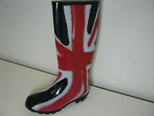 Ladies X1171 Funky Red, White & Blue Union Jack Print Wellies