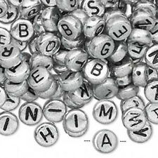 Hotsale 7mm Oblat Acrylic Plastic Initial Alphabet Letters Spacer Pony Beads