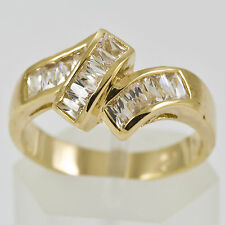 Gold Cocktail Bling Fashion Ring gp cz Various Sizes Available