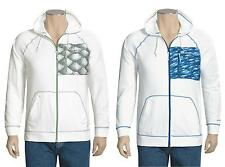 Columbia Hoodie Mens Water Resistant Fleece PFG White Full Zip Front Sweatshirt