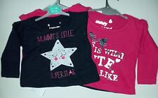 2 Pack Girls Long Sleeved Tops with Mummys Little Star/Cute detail
