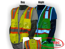 Majestic 75-3225 High Visibility Class 2 Mesh Vest ANSI ISEA 107-2010 D-Ring
