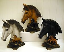HD28779 WILD & FREE HORSE BUST STATUE DECORATION FIGURINE DWK