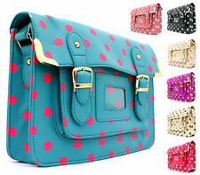 WOMENS LADIES GIRLS SATCHEL FESTIVAL VINTAGE STYLE WORK BRIEFCASE SCHOOLBAG W36