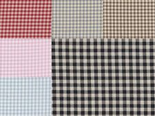 FQ Classic Red Blue Purple Black Pink Brown Gingham Checked 100% Cotton Fabric