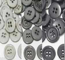 "19mm 3/4"" SZ 30 Plastic Coat Suit 4Hole Button GRAY 10-90 button Discount Retail"