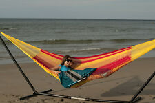 Breezy Point NEW LARGE Handmade Mayan Mexican Cotton DOUBLE Hammock bed