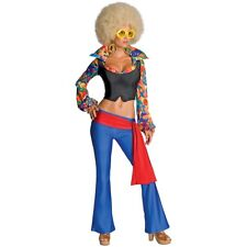 Disco Costume Adult 60s 70s Hippie Girl Halloween Fancy Dress