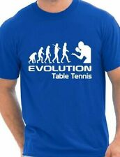 Evolution Of Table Tennis  Funny Adult Mens T-Shirt  Birthday Gift Size S-XXL