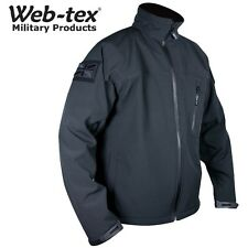 Web-Tex Tactical Soft Shell Black Jacket Police Military Security