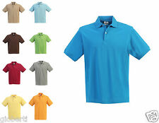 Gioberti Men's Solid Pique Polo Slim Fit Shirts Short Sleeve -2 Buttons