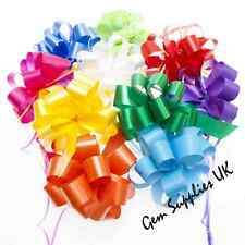 """Weddings Flowers Large Quick Pull Bows 50mm - 6"""" Inch Christmas Gift Hampers"""