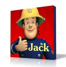 PERSONALISED DEEP EDGE CANVAS PICTURE FIREMAN SAM FREE P&P NEW