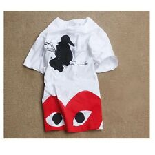 HOT Comme des Garcons Play a crow pattern of men and women short sleeve T-shirt