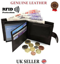 NEW REAL LEATHER MENS HIGH QUALITY LUXURY SOFT BLACK SLIM WALLET GIFT CARD COIN