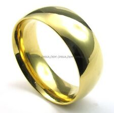 Men's Jewelry 316L Stainless Steel Heavy Solild Gold 8MM Party Band Ring M072988