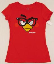 Angry Birds Game Nerdy GlassT-Shirt Tee  Women JUNIOR size S-L  Red New