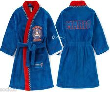 Boys Nintendo Super Mario Kart Dressing Gown Ages 4-12 Years No 1 Racer New Gift
