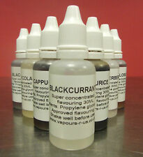 30 ML EXTRA STRONG CONCENTRATED  FLAVOURINGS FOR  E LIQUIDS  OVER 152 FLAVOURS