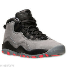 New AIR Jordan 10 Retro GS - Cool Grey 10s - 310806 023 - Grey/Black-Red
