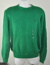 MARQUE POLO RALPH LAUREN HOMME PULL NEUF VERT 2014 100% COTON taille L
