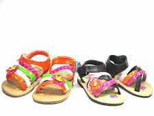 Toddler Girls Adorable Sandals Sz 3-11  Two Colors  Brown Orange