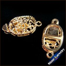 Wholesale 5 / 10 / 20 pcs Gold Plated Filigree Flower Box Clasps 9x18mm FINDINGS