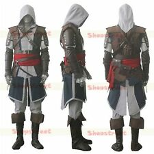 Assassin's Creed IV 4 Black Flag Edward Kenway Cosplay Costume Express Shipping