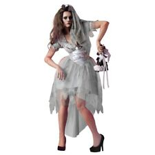 Zombie Bride Costume Adult Womens Scary Ghost Carrie Halloween Fancy Dress