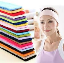 Fashion Cotton Sweatband Hair band Headband Sports Workout Gym Yoga Tennis #A
