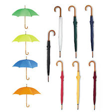 Classic Umbrella with Wooden Crooked Handle. Manual Opening WALK Bride & Groom