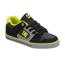 DC PURE CANVAS Youth Shoes (NEW w/ FREE SHIP) Boys Kids BLACK & GREY Sizes 4-6.5