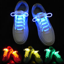 Fluorescence Flash Light UP LED Shoe Laces Shoestrings for Party DISCO KTV Green