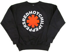 RED HOT CHILI PEPPERS Vintage Logo Sweatshirt Rock Sweater Black Adult S,M,L New
