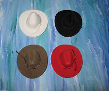 "Wedding Ceremony Crafts (2) Western Mini Cowboy Hats 3"" Size You Pick 4 Colors"