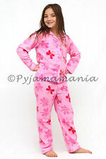 Girls Winter Cotton Flannel Pyjamas Pjs Pink Butterfly Dragonfly sz 3 4 5 6 7