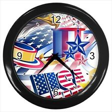 American Eagle Bird / USA Design  - Wall Clock (Choose from 7 Colors) -HH4032