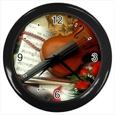 Music Classes Violin Design - Wall Clock (Choose from 7 Colors) -HH4683