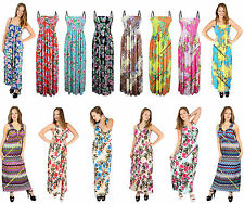 New Womens Celebrity V Neck Floral Long Maxi Summer Party Dress Plus Size 12-18